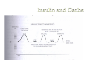 insulin carbs